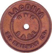 1 Fare (Laconia Street Railway) – revers