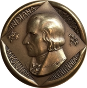 Medal - American Bicentennial (Indiana) – avers