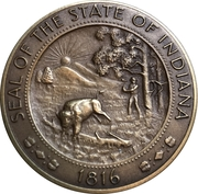 Medal - American Bicentennial (Indiana) – revers