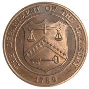 Medal - United States Treasury Building – revers