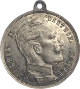 Medallion - Wilhelm II – avers
