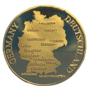 Token - Germany (Map of Germany) – revers