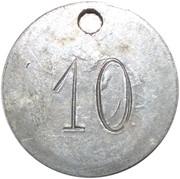 Jeton - 10 – revers