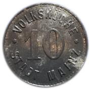 10 pfennig - Volksküche (Mainz, Hessen) – avers