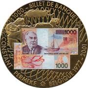 Jeton - Souvenir du billet de 1000 Frs belges – avers