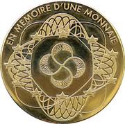 Jeton - Souvenir du billet de 1000 Frs belges – revers