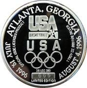 Jeton - Atlanta, Georgia (1996 Olympic Basketball) – avers