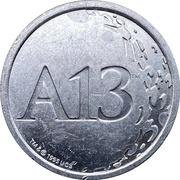 Token - A13 (Apollo 13) – revers