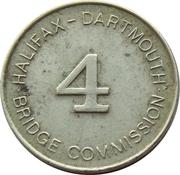 Toll Token - Halifax-Dartmouth Bridge Commission (Class 4 Vehicle; 20 mm) – avers
