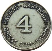Toll Token - Halifax-Dartmouth Bridge Commission (Class 4 Vehicle; 20 mm) – revers