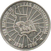 Jeton - Texas Sesquicentennial – revers