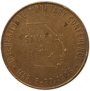 Jeton présidentiel - Franklin Delano Roosevelt - International Monetary Conference (Savannah, Georgia) – revers