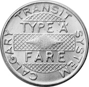 1 Fare - Calgary Transit System (Type 'A') – avers