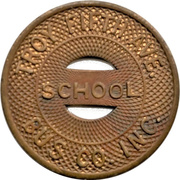 1 School Fare - Troy Fifth Ave. Bus Co. (Troy, New York) – avers