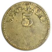 5 pfennig (Wert-Marke ; 18 mm) – avers
