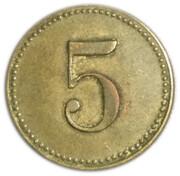 5 pfennig (Wert-Marke ; 18 mm) – revers