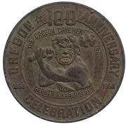 50 cents - 100e anniversaire Oregon (Grants Pass, Oregon) – avers