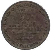 50 cents - 100e anniversaire Oregon (Grants Pass, Oregon) – revers
