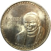 Jeton - Ioannes Paulus II (Visite papale au Mexique) – avers