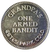 Jeton - Grandpa's One Armed Bandit (Estes Park, Colorado) – avers