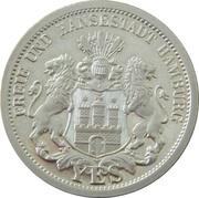 Médaille - Wapen von Hamburg – revers