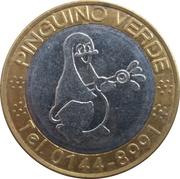 Jeton de lavage automobile - Pinguino Verde (Vesime; 27 mm) – avers