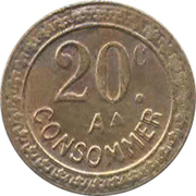 20 centimes - A Consommer – avers