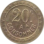 20 centimes - A Consommer – revers
