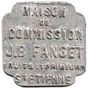 5 Francs - J.B Fanget Maison de commission - Saint Etienne [42] – avers
