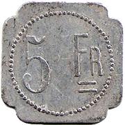 5 Francs - J.B Fanget Maison de commission - Saint Etienne [42] – revers