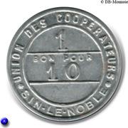 1 Bon pour 10 - Union des Coopérateurs - Sin-Le-Noble [59] – revers