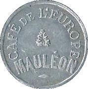 25 Centimes - Café de l'Europe - Mauléon (64) – avers