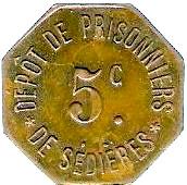5 Centimes Dépot de Prisonniers de Sédières - Clergoux [19] – avers