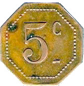 5 Centimes Dépot de Prisonniers de Sédières - Clergoux [19] – revers