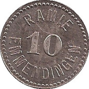 10 pfennig - Emmendingen (Spinnerei Ramie) – avers