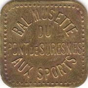 Bon pour une danse - Aux Sports - Bal musette du Pont de Suresnes [92] – avers