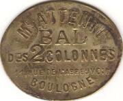 Bon pour une danse - Maison Attenti - Bal des 2 colonnes - Boulogne-Billancourt [92] – avers