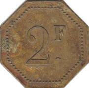 2 Francs - Pichon & Tesnière (Paris) – revers