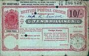 10 Shillings - Postal Order – avers