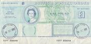 1 Pound - Postal Order – avers