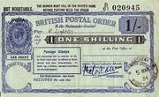 1 Shilling - Postal Order – avers