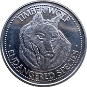 Jeton - World Endangered Species Coin Collection (Timber Wolf) – avers