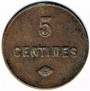 5 centimes Société Spinalienne de Consommation (Epinal (88) – revers
