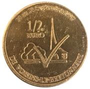 ½ euro (de Voisins-le-Bretonneux) – revers