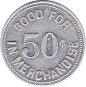 50 Cents - N.C.O. Club (Pope Air Force Base, North Carolina) – revers