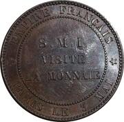 Jeton - 10 centimes module de S.M.I. Visite de la monnaie – revers