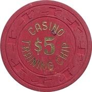 5 Dollars - Casino Training Chip – revers