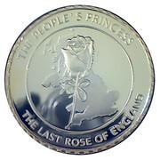 Médaille commémorative Princesse Diana Rose du Pays de Galles – revers