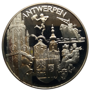 Médaille Belgique Joyeuses Entrées Province d'Anvers – avers