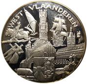 Médaille Belgique Joyeuses Entrées Province de Flandre Occidentale -  avers